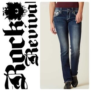 NEW ROCK REVIVAL SUNDEE EASY STRAIGHT STRETCH JEAN